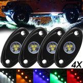 4Pcs LED Deck Bottom Lights Atmosphere Decoration Lamps Offroad Car Truck Boat Camper SUV 6000K Waterproof