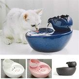 Pet Dog Cat Bowl Fountain Smart Feeder Automatic Water Dispenser Ceramic Water Drinker