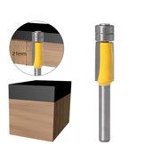 Broca de corte de doble rodamiento de vástago de 6 mm Borde recto Router Bit para plantilla de madera Patrón Cortador