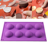 8 Half Ball Sphere Silikonform Kuchen Chocolate Candy Soap Cookie Backen