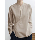 Chinese Solid Cotton Blouse
