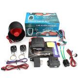 Sistema di allarme auto universale 12V Protezione antifurto automatica senza chiave con 2 remoto e avvisatore acustico