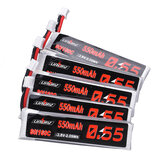 5 قطع URUAV 3.8V 550mAh 80C / 160C 1S HV 4.35V PH2.0 Plug Lipo البطارية for Emax Tinyhawk Kingkong / LDARC TINY