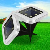 Solar Powered 8 LED Buried Lamp Underground Light Waterproof Outdoor Pathway Garden Yard Lawn
