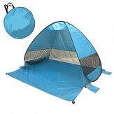 Tente P0P-UP entièrement automatique Tente de plage à ouverture rapide de 2 secondes avec sac de rangement Parasol de protection portable UV