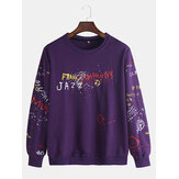 Men's New Fashion Graffiti Pullover Letter Printing Large Si