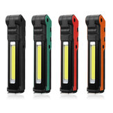 ESEN107 LED COB USB 18650 Li-ion Batterie Rechargeable Pliable Maintenance Torch Work lampe de Poche Banque de Puissance