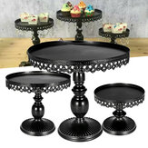 3 Piece Revolving Cake Stand Cupcake Dessert Holder Birthday Wedding Party Display