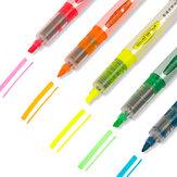 Deli 33530 5 stks / set Markeerstift Fluorescerende pennen Markeerstift Briefpapier Kantoor Schoolbenodigdheden