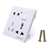 250V 16A 86mm Switch Socket Board 8 Hole Wall Socket Panel Switch Suitable for Indoor Buildings