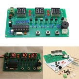 5pcs 5V-12V AT89C2051多機能6デジタルLED DIY電子時計キット