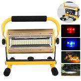 100W3.7V2400ルーメン3Modes充電式LEDフラッドライトIP64防水セキュリティライト