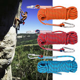 20mx10mm Podwójna klamra Rock Climbing Rope Outdoor Sports Turystyka Mountaineering Belt Downhill Safety Rope