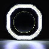 2.5 incn سيارة البوليفيين LED عيون الملاك هالو اليوم تشغيل أضواء drl hid زينون العارض عدسة كيت ساحة ل rhd