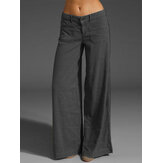 Women Casual Cotton Long Solid Plain Harem Pants