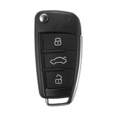 3 Buttons Car Remote Key Fob Case Shell With Battery for Audi A3 A4 A6 A8 Q7 TT