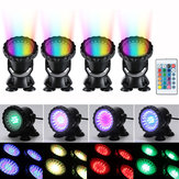 4pcs LED RGB Submersible Pond Spot Light Underwater Swimming Pool Lamps AC100-240V
