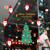 Miico SK9230 Kerst Catoon muursticker verwijderbaar voor decoratie van de kerstfeestzaal
