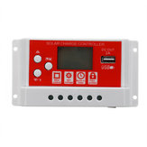 10A 12V/24V Solar Panel Battery Regulator Charging Controller 3-Stage PWM LCD