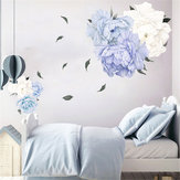 Peonia Fiore Fiore Wall Sticker Art Nursery Soggiorno Camera da letto Home Decor Decalcomanie da muro Decorazioni