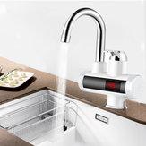 220V LCD Torneira de cozinha elétrica Torneira de água quente instantânea Aquecedor Torneira com indicador de temperatura