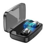 Bakeey M13C TWS bluetooth 5.0イヤホンLEDディスプレイタッチコントロール1800mAhパワーバンクマイク付き透明ヘッドフォン