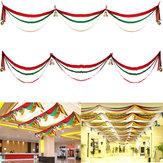 3m Kerstdecoraties Golfvlag Linten Geschenkfestival Plafonddecoratie Banner met ballen en bellen