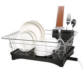 Kitchen Drain Shelf Dish Rack Plates Bowl Drying Organizer Holder Drainer Stainless Steel Kitchen Rack