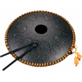 Hluru 14 Inch 14 Tone C Key Ethereal Drum Steel Tongue Drum Percussion Handpan Instrument with Drum Mallets and Bag