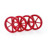 Creality 3D® 4pcs Verbesserte große metallisch rote Nivelliermutter für das Druckplattform-3D-Druckerteil
