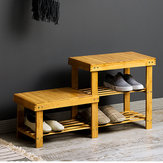 Bamboo Shoe Racks Bench Storage Seat Organizer Shelf Footstool Entryway Hallway Home