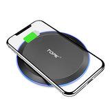 TOPK 10W LED Gösterge Hızlı Şarj Kablosuz Şarj Cihazı iPhone 8 8Plus X XS / Dorid Turbo / Moto 360 Smart Watch / Moto Droid Maxx / Google Nexus / HUAWEI P30 Mate20 Pro / Oneplus 7 / MI9 S10 S10+