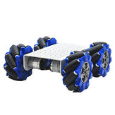 D-44 DIY Smart Metal RC-robotchassis met 103 mm Omni-wielen