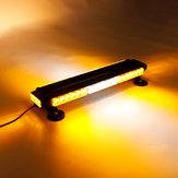 12V 144W 42 LED Amber Double Side Traffic Advisor Strobe Flash Light Bar Emergency Light Magnetic Universal