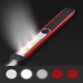 Skywolfeye LED المحمولة + الكوز الأبيض + الكوز الأحمر 500 شمعة 5 طرق USB قابلة للشحن العمل ضوء متعددة الوظائف في الهواء الطلق ضد للماء صيانة مصباح المصب