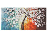 White Plum Flower Tree Oil Paintings Unframed Canvas Print Wall Art Picture Home Decorations