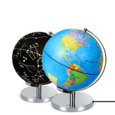 9 inch LED World Globe Earth Tellurion Rotating Stand Geography for Education