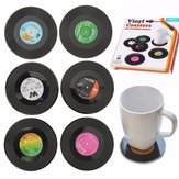 6pcs Vinyl Record Coaster Coffee Mug Holder Cup Mat Retro Placemat