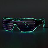 المزدوج اللون EL الأسلاك الباردة LED توهج نظارات تضيء نظارات بار حزب مصراع هالوين