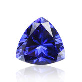 AAAAA + Bright Blue Triangle Cut Edelstein unbeheizter Zirkon 11.20ct 12x12mm Schmuck Dekorationen