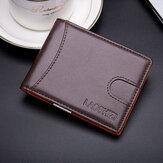 الرجال جلد طبيعي خمر RFID حجب بطاقة المحفظة النقدية المضادة للسرقة