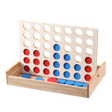 Connect Four 4 In A Row Indoor Family Party Game Rubber Wooden Toys Kids Educational Toys Gift