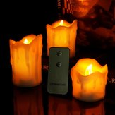 3pcs/Set Flameless LED Candle Electric Candle Night Light Remote Control for Wedding Party