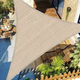 300D Kahki Tugas berat Naungan Berlayar Sun Outdoor Garden Patio Tenda Kanopi Perlindungan UV