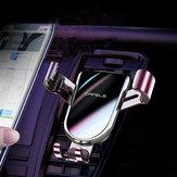 Cafele Металл Закаленное стекло Двойной треугольник Гравитационная вентиляционная решетка Авто Держатель для телефона Авто Держатель для т