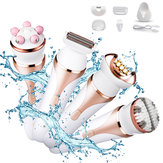 4 in 1 Cordless Epilator Wet & Dry Electronic Hair Removal Lady Shaver Body Exfoliation Brush Body Massager