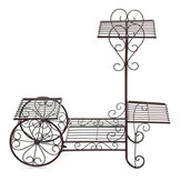 70x28x68cm 4 capas Planta Soporte Art Flower Pot Holder Rack Plantaer Garden Home