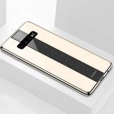 Bakeey luxo à prova de choque de vidro temperado TPU Bumper Caso protetora para Samsung Galaxy S10