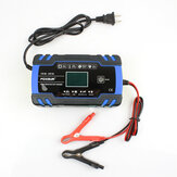 FOXSUR ™ 12/24V 8A / 4A لمس شاشة Pulse Repair LCD البطارية شاحن Blue for Car Motorcycle Lead Acid البطارية Agm Gel Wet