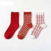 Kadınların Noel Tüp Çorap rahat pamuklu 12 çift Çorap